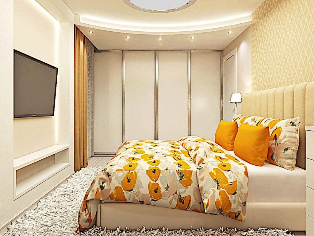 Спальня - Встроенный Шкаф-купе на заказ в Астане